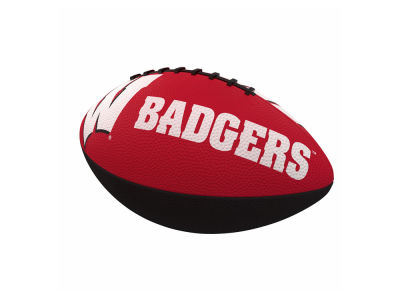 Wisconsin Badgers Logo Brands Junior-Size Rubber Football