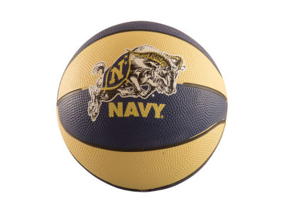 Navy Midshipmen Logo Brands Mini-Size Rubber Basketball
