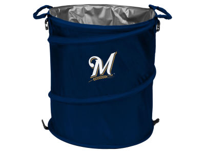 Milwaukee Brewers Logo Brands Collapsible 3-in-1 Cooler Hamper Wastebasket