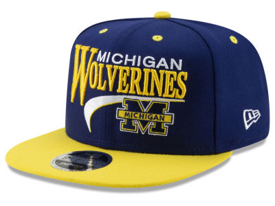Michigan Wolverines New Era NCAA Retro 9FIFTY Snapback Cap e55639120e9