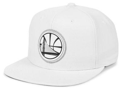 Golden State Warriors Mitchell   Ness NBA White Zig Zag Snapback Cap 6b00380eeb0