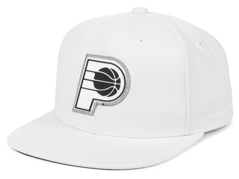 size 40 627b8 da42d ... coupon code indiana pacers mitchell ness nba white zig zag snapback cap  lids c375f d8023