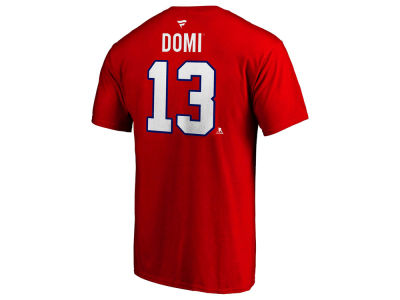 Montreal Canadiens Max Domi Majestic NHL Men s Authentic Stack Name and  Number T-shirt c4701f636