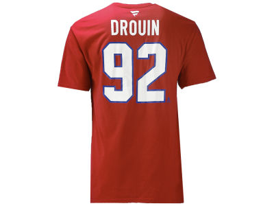 Montreal Canadiens Jonathan Drouin Majestic NHL Men's Authentic Stack Name and Number T-shirt