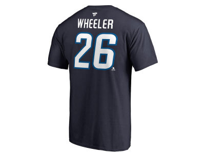 Winnipeg Jets Blake Wheeler Majestic NHL Men's Authentic Stack Name and Number T-shirt