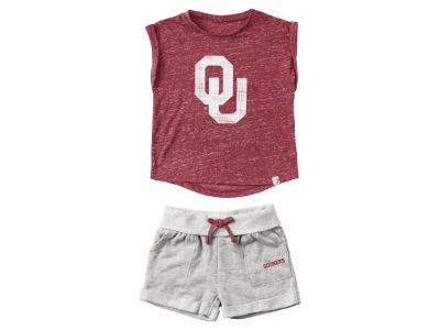 Oklahoma Sooners Colosseum NCAA Infant Girls Cuffed T-Shirt and Short Set