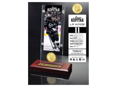 Los Angeles Kings Anze Kopitar Highland Mint Ticket & Bronze Coin Acrylic Desk Top
