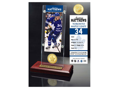 Toronto Maple Leafs Auston Matthews Highland Mint Ticket & Bronze Coin Acrylic Desk Top
