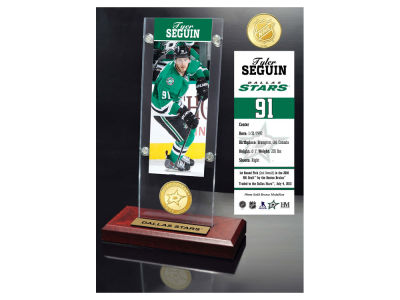 Dallas Stars Tyler Seguin Highland Mint Ticket & Bronze Coin Acrylic Desk Top
