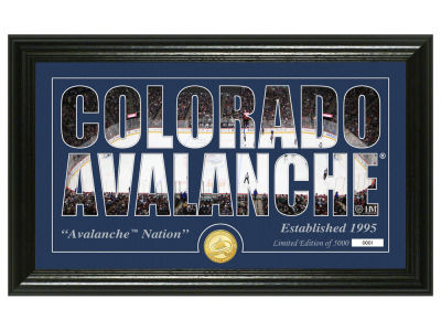 Colorado Avalanche Highland Mint Silhouette Bronze Coin Panoramic Photo Mint