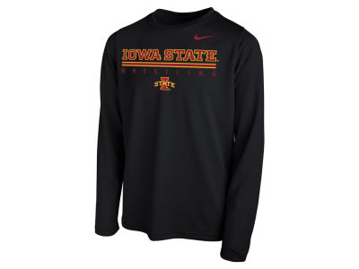 Iowa State Cyclones Nike NCAA Youth Legend Wrestling Long Sleeve T-Shirt