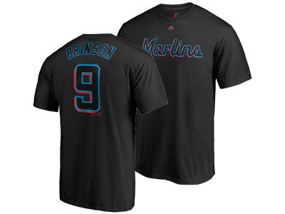 Miami Marlins Lewis Brinson Majestic MLB Men's Official Player T-Shirt