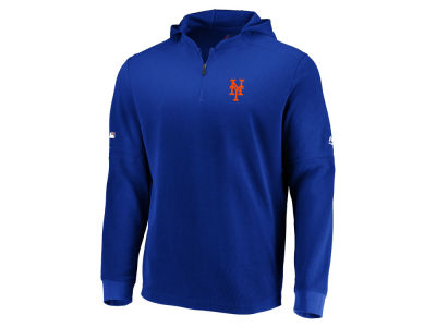 New York Mets Majestic MLB Men s Authentic Batting Practice Waffle Hoodie c2fad37ee42