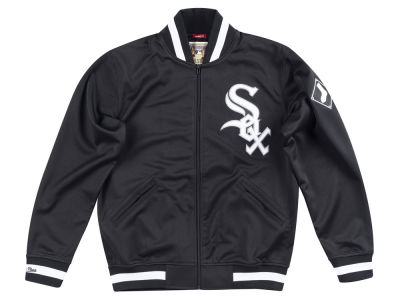 Chicago White Sox Mitchell   Ness MLB Men s Authentic Full Zip ... 2aa9d98035ef