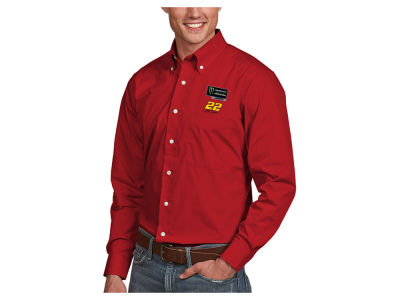 Joey Logano Antigua 2018 NASCAR Champ Men's Dynasty Woven Button Up Shirt