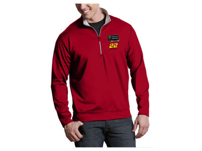 Joey Logano Antigua 2018 NASCAR Champ Men's Leader Quarter Zip Pullover