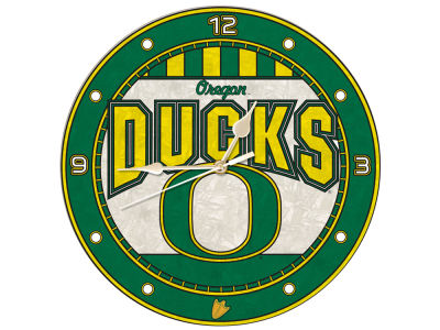 Oregon Ducks Memory Company Art Glass Clock