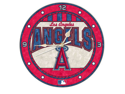 Los Angeles Angels Memory Company Art Glass Clock