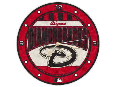Arizona Diamondbacks Memory Company Art Glass Clock