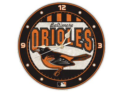 Baltimore Orioles Memory Company Art Glass Clock