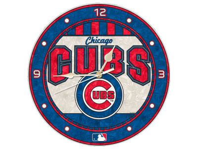 Chicago Cubs Memory Company Art Glass Clock