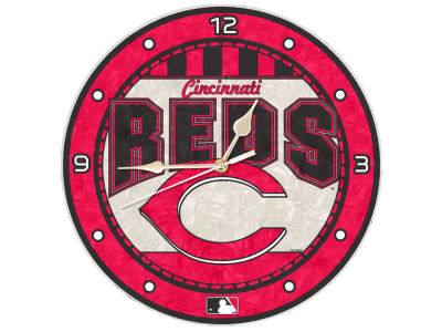 Cincinnati Reds Memory Company Art Glass Clock