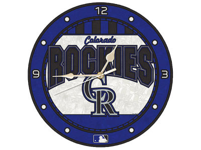 Colorado Rockies Memory Company Art Glass Clock