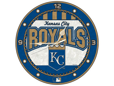 Kansas City Royals Memory Company Art Glass Clock