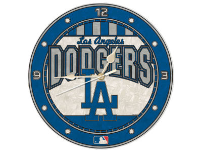 Los Angeles Dodgers Memory Company Art Glass Clock