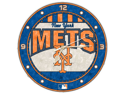 New York Mets Memory Company Art Glass Clock