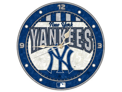 New York Yankees Memory Company Art Glass Clock