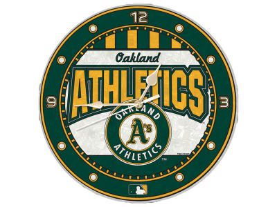 Oakland Athletics Memory Company Art Glass Clock