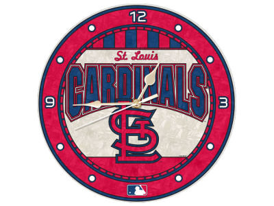 St. Louis Cardinals Memory Company Art Glass Clock
