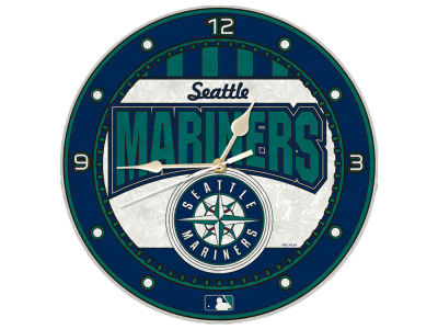 Seattle Mariners Memory Company Art Glass Clock