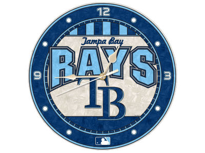 Tampa Bay Rays Memory Company Art Glass Clock
