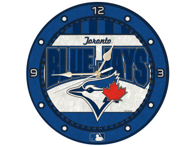 Toronto Blue Jays Memory Company Art Glass Clock