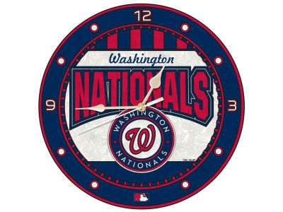 Washington Nationals Memory Company Art Glass Clock