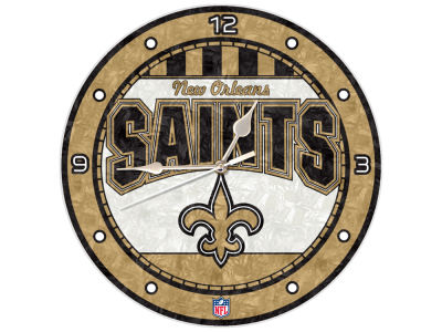 New Orleans Saints Memory Company Art Glass Clock