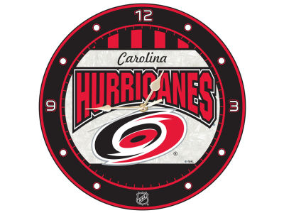 Carolina Hurricanes Memory Company Art Glass Clock