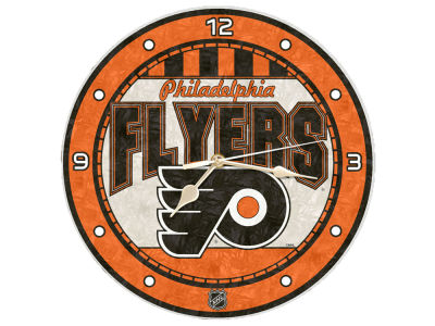 Philadelphia Flyers Memory Company Art Glass Clock