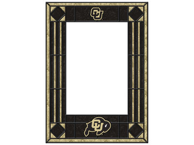 Colorado Buffaloes Memory Company Art Glass Vertical Frame