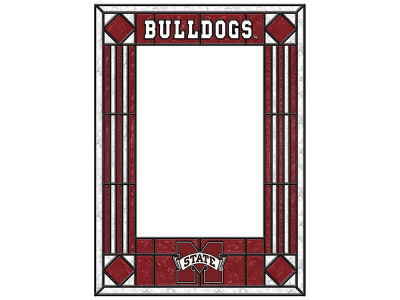 Mississippi State Bulldogs Memory Company Art Glass Vertical Frame