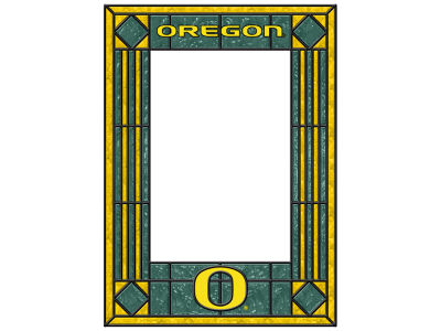 Oregon Ducks Memory Company Art Glass Vertical Frame