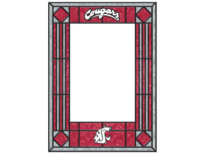 Washington State Cougars Memory Company Art Glass Vertical Frame