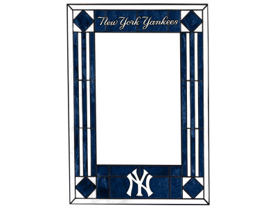 New York Yankees Memory Company Art Glass Vertical Frame