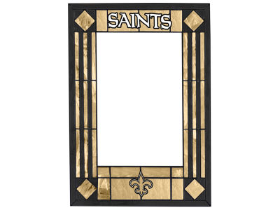 New Orleans Saints Memory Company Art Glass Vertical Frame