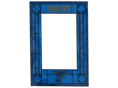 St. Louis Blues Memory Company Art Glass Vertical Frame