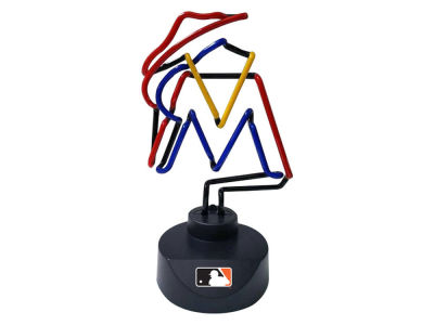 Miami Marlins Memory Company Team Logo Neon Lamp