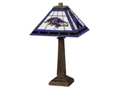 Baltimore Ravens Memory Company Stained Glass Mission Lamp
