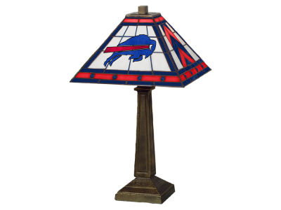 Buffalo Bills Memory Company Stained Glass Mission Lamp